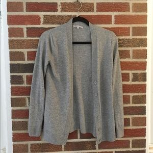 Gap Gray Long Sweater Cardigan